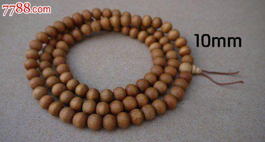 越南香樟木佛珠手串手链108颗10mm