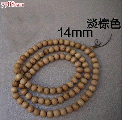 越南香樟木佛珠手串手链108颗14mm