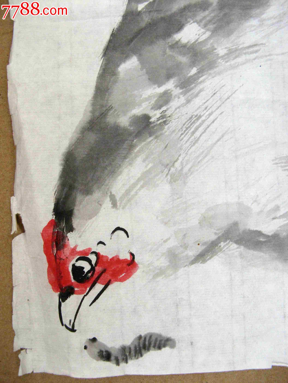 姨爱吃我的大鸡吧_北京著名书画家生动妙趣的一尺斗方大鸡画《我家有个鸡婆婆》