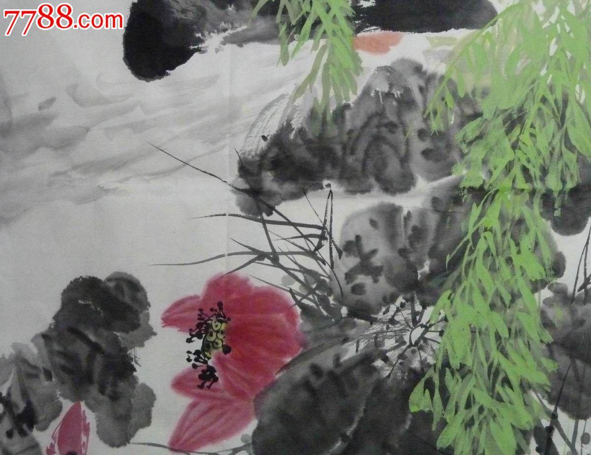 中国画写意花鸟画 鱼米之乡