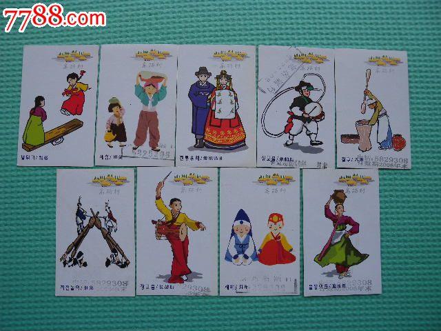 高丽村刮奖酒标(朝鲜族民俗风情图9枚)图片