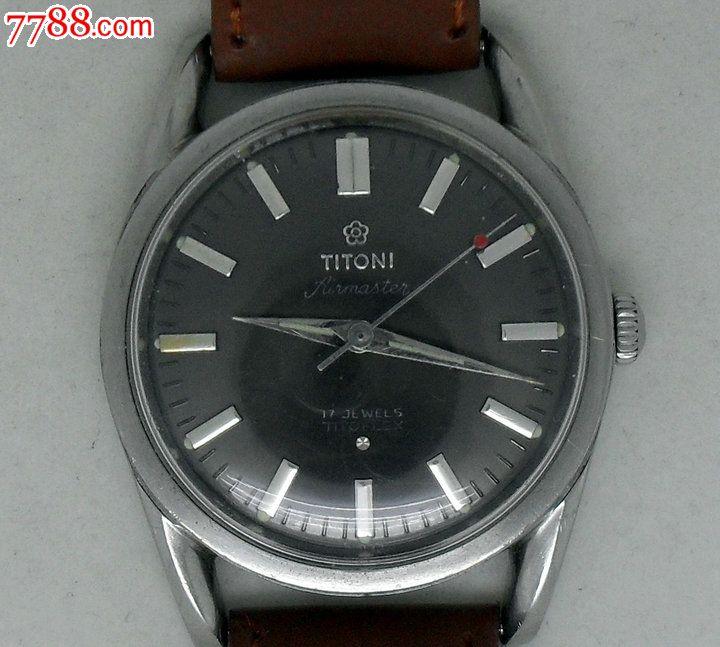 瑞士产梅花titoni手表