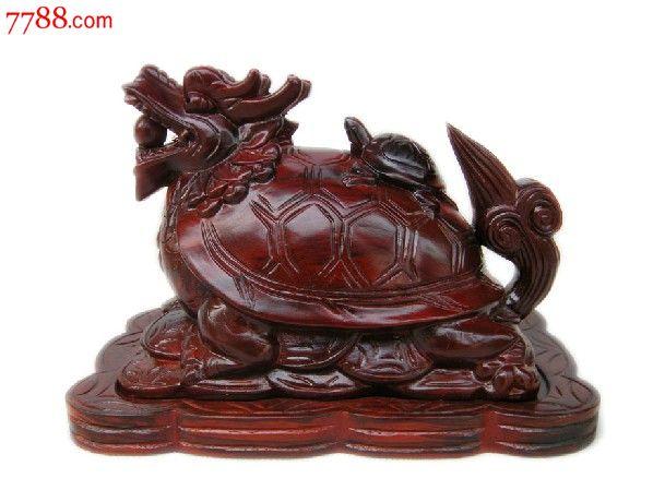 越南红木工艺品龙龟香炉龙头龟摆件包邮