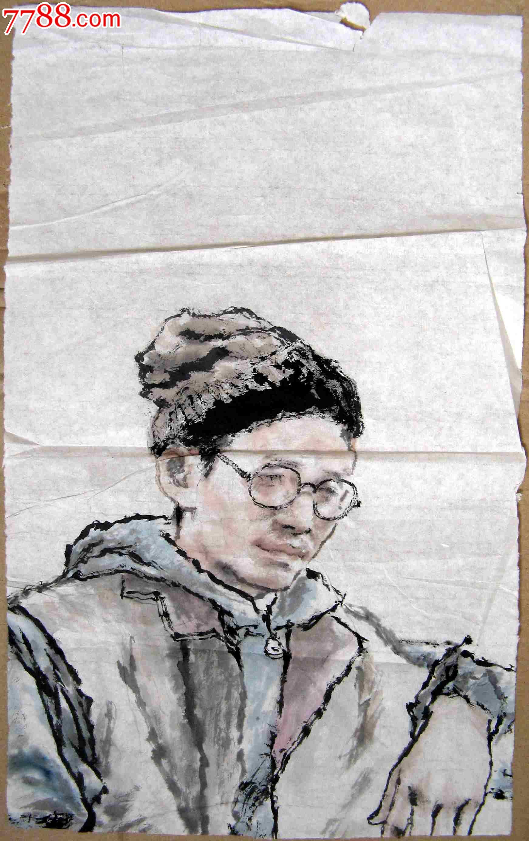 意人物画:眼镜男