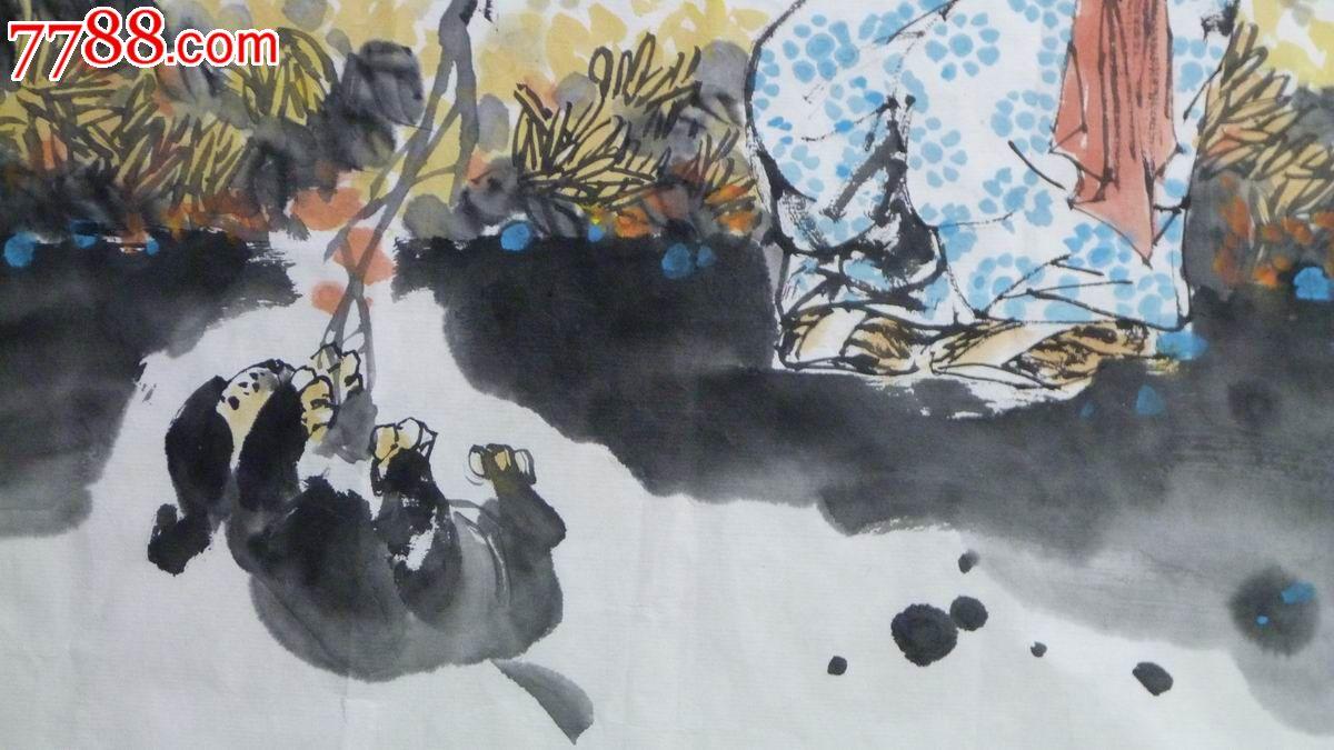 中国画写意人物《童趣》图片