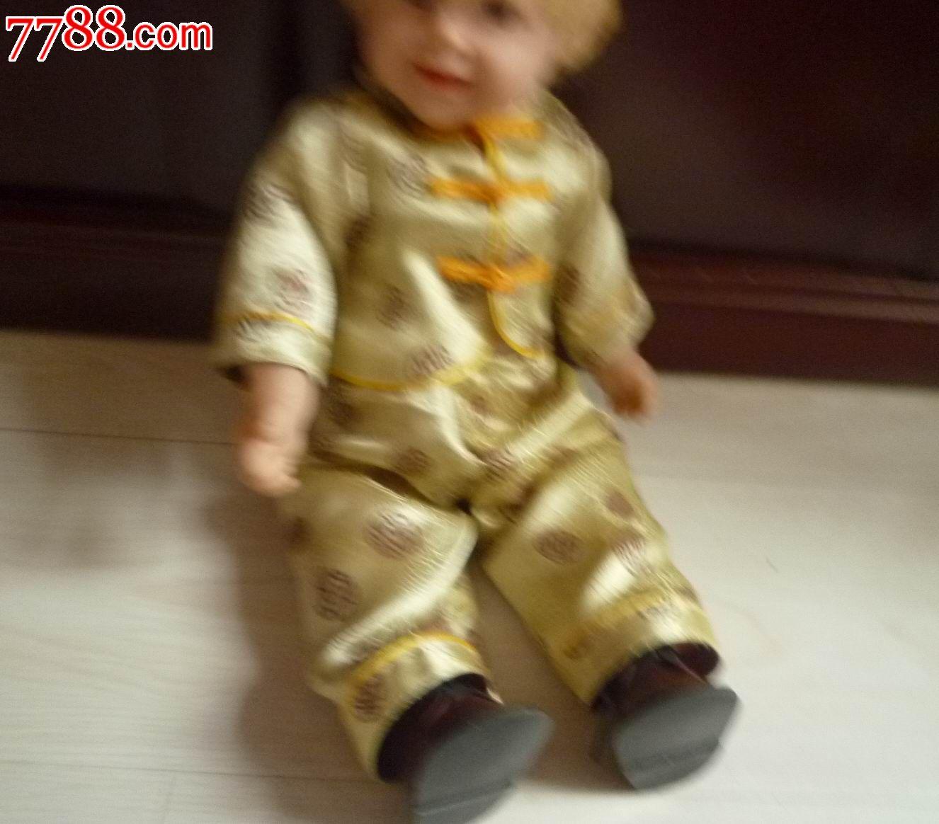 唐装胶皮男孩子娃娃玩具