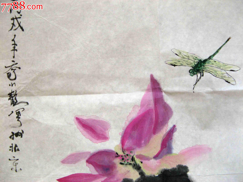 蜻蜓画-花鸟国画原作