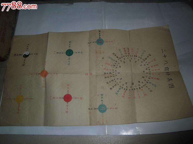 二十八宿修真图手绘 中国收藏热线