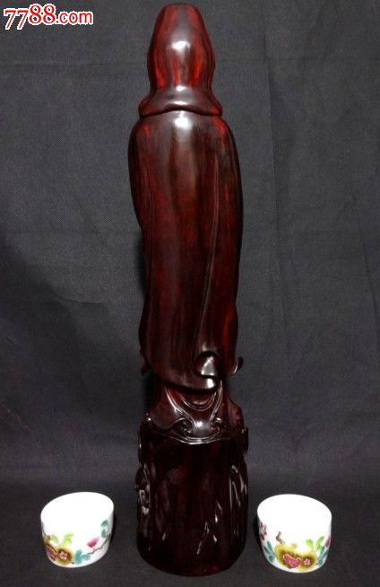 雕观世音菩萨佛像红木雕