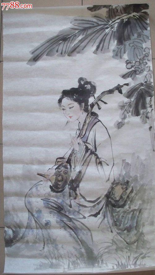古代美女水墨人物画(1)