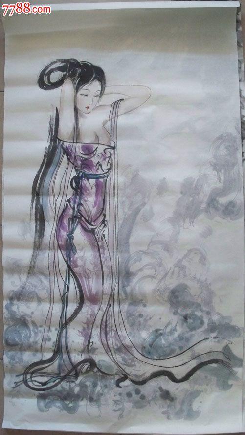 古代美女水墨人物画(2)
