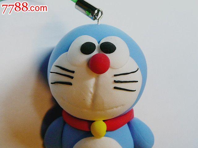 创意彩泥儿童玩具钥匙扣手机链饰品挂件(机器猫)