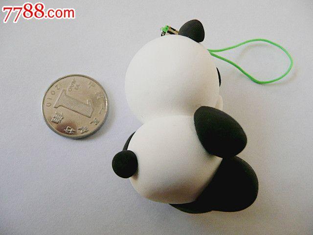 创意彩泥儿童玩具钥匙扣手机链饰品挂件(熊猫)