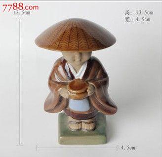 彩瓷陶瓷人物塑像摆件工艺品小和尚