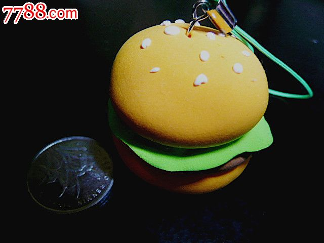 创意彩泥儿童玩具钥匙扣手机链饰品挂件(汉堡包)