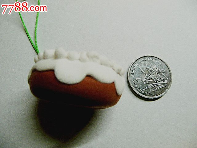 创意彩泥儿童玩具钥匙扣手机链饰品挂件(圆形生日蛋糕