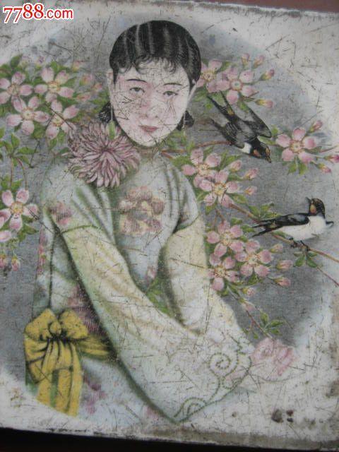 【手绘民国风素材】|民国美女手绘图片|沧月作品集