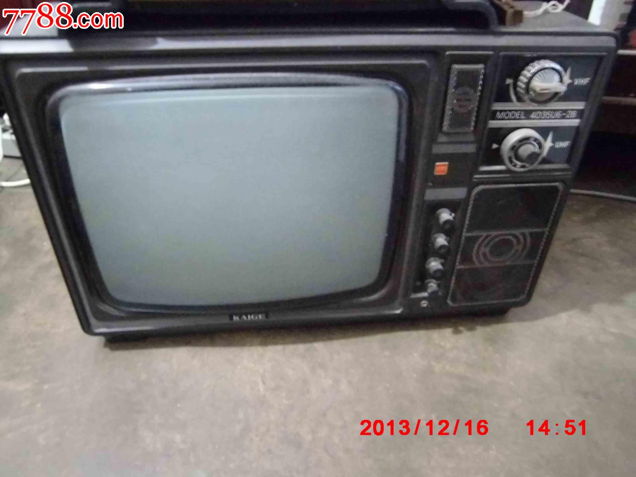 電視機-電視機 屬性: 顯像管電視機,80-89年,黑白電視機,12英寸,凱歌