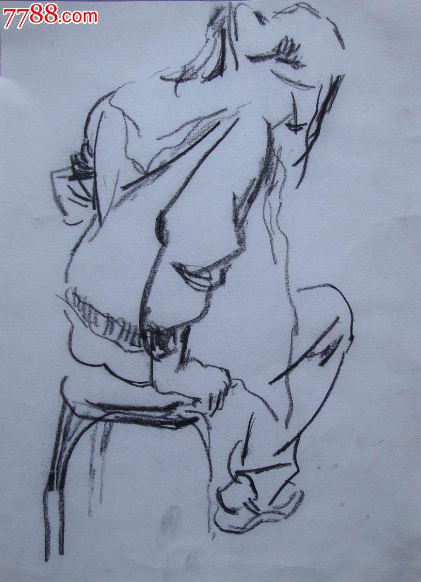 【中*美院学生-素描原稿】姜飞·女孩背影_价格2元_第1张_7788收藏