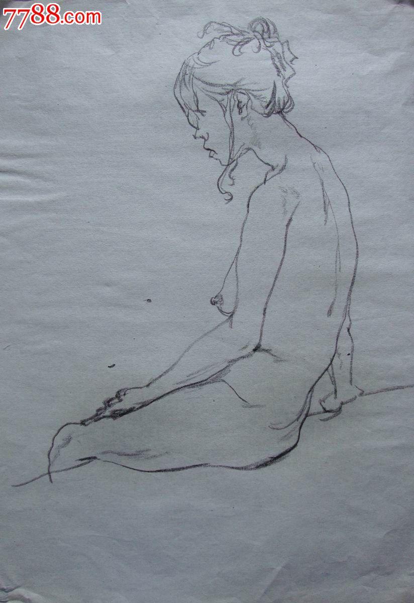 铅笔画原画,,人物,,2000-2009年