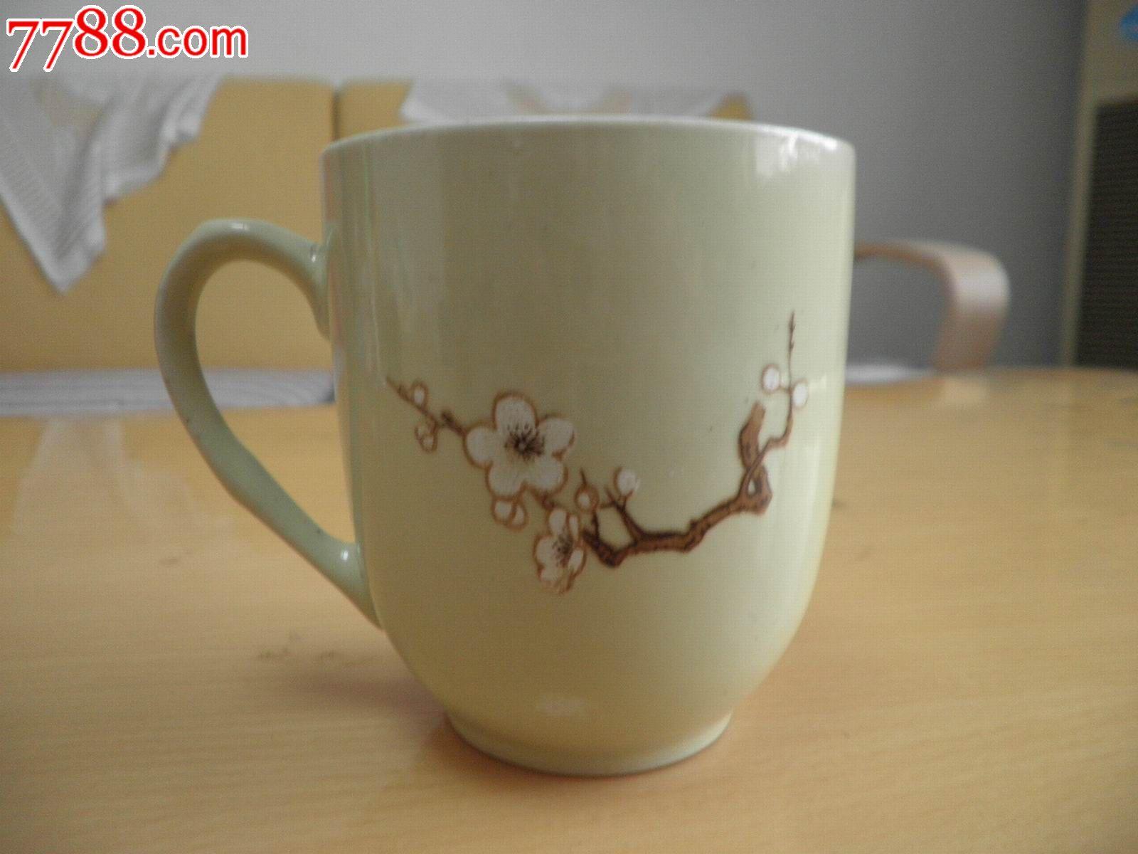 手绘梅花茶杯