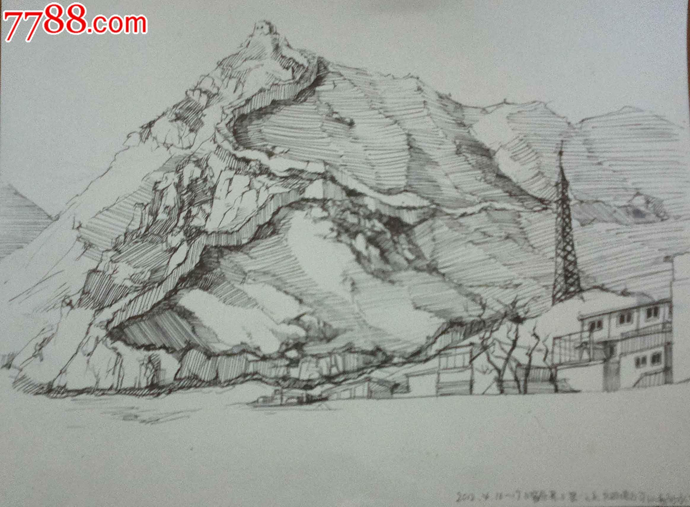 铅笔画风景图片