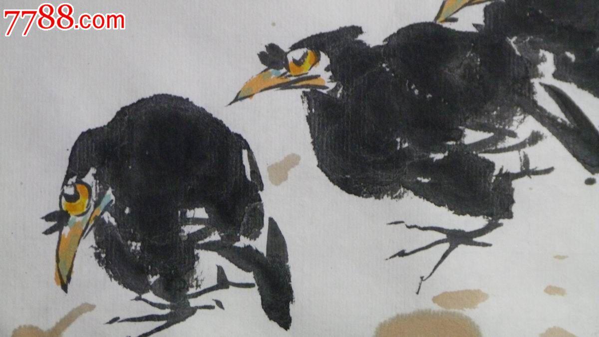 中国画写意花鸟画 秋寒