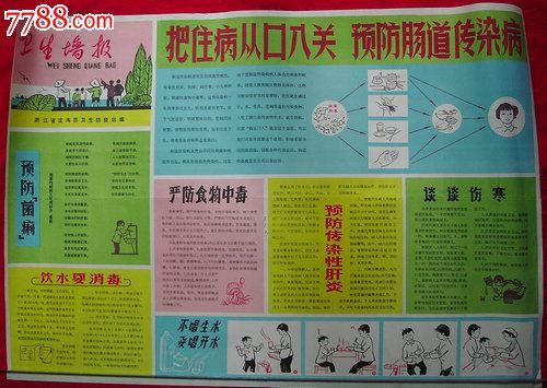 70-80年代卫生宣传画---卫生墙报_价格35元_第1张_中国收藏热线