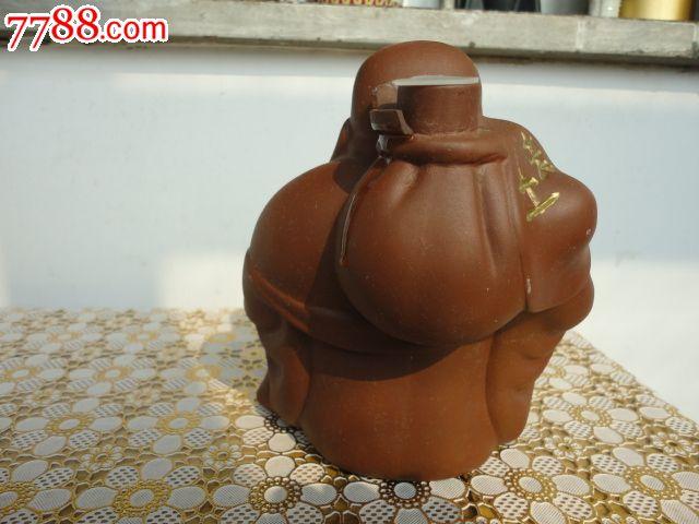 紫砂艺术酒瓶收藏--土老帽酒酒瓶(无盖)-价格:1