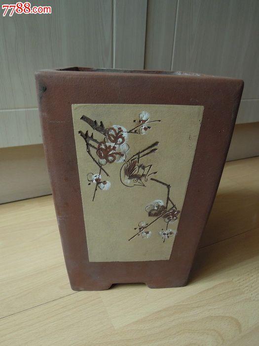 几十年前刘红荷制作的大紫砂花盆