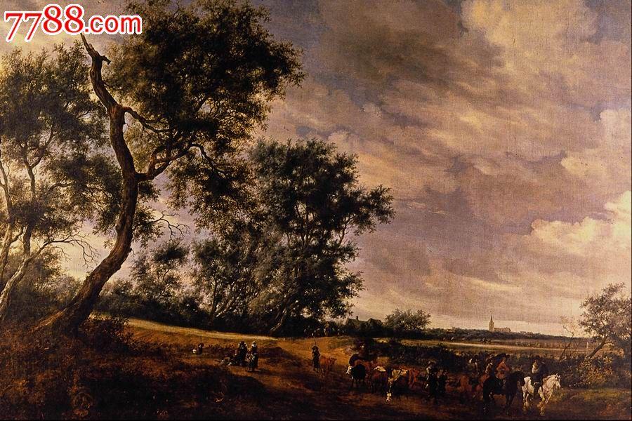世界名画,欧陆风景,山,水,树,路,高清图片_价格10元_第1张_中国收藏