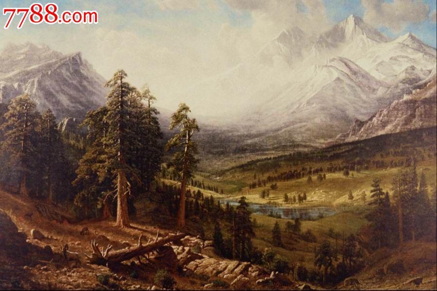 世界名画,欧陆风景,山,水,树,路,高清图片_价格10元_第1张_中国收藏图片
