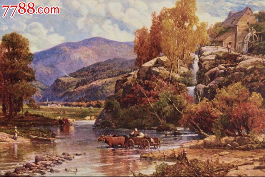 世界名畫,歐陸風景,山,水,樹,路,高清圖片_價格10元_第1張_中國收藏