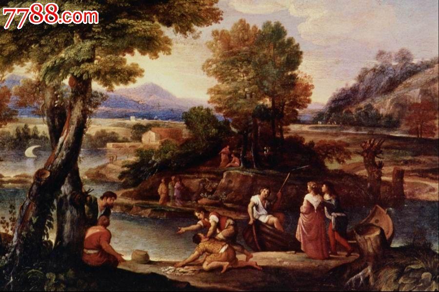 世界名画,欧陆风景,山,水,树,路,高清图片_价格元_第1张_7788收藏__中图片