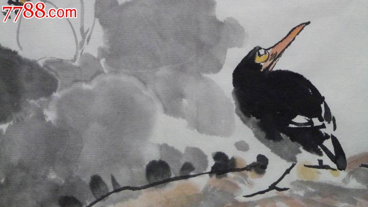 中国画写意荷花花鸟画《香远》