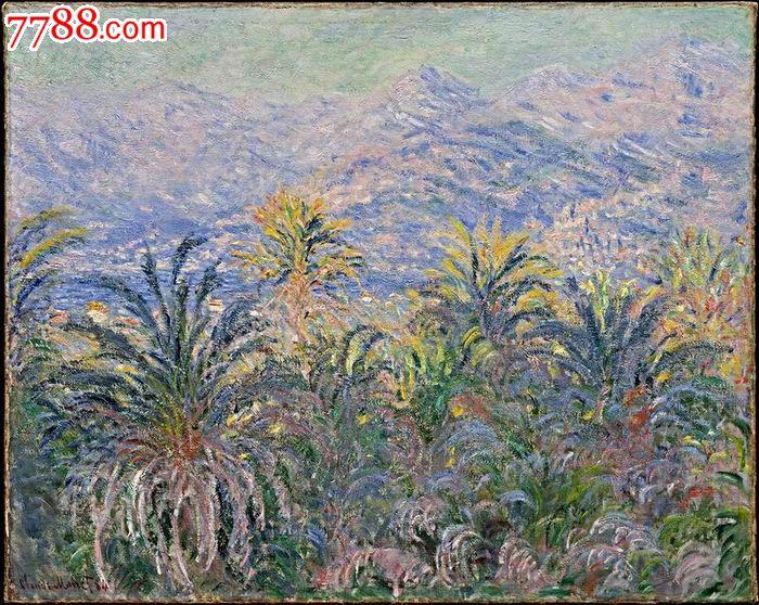 世界名画,克劳德61莫奈油画系列,博尔迪盖拉的棕树林