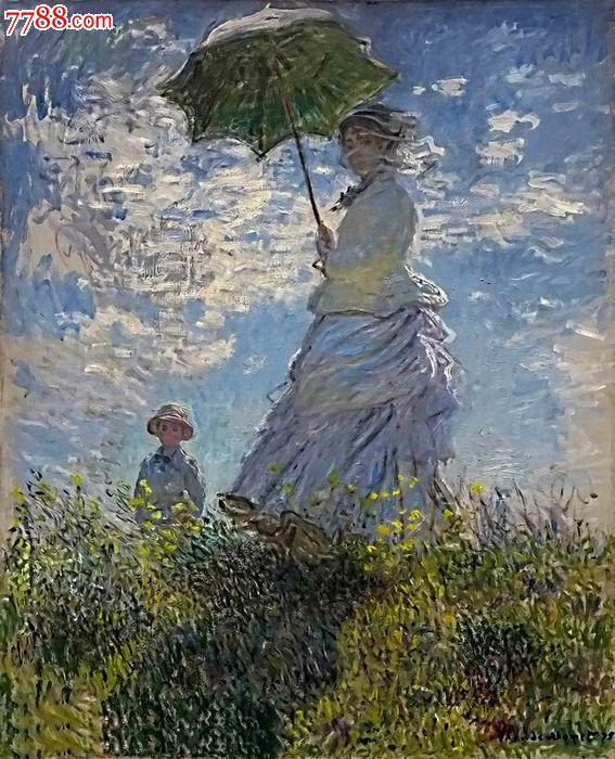撑伞的女人2 莫奈