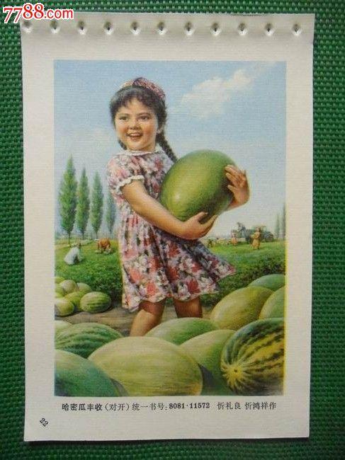 农村丰收卡通墙画
