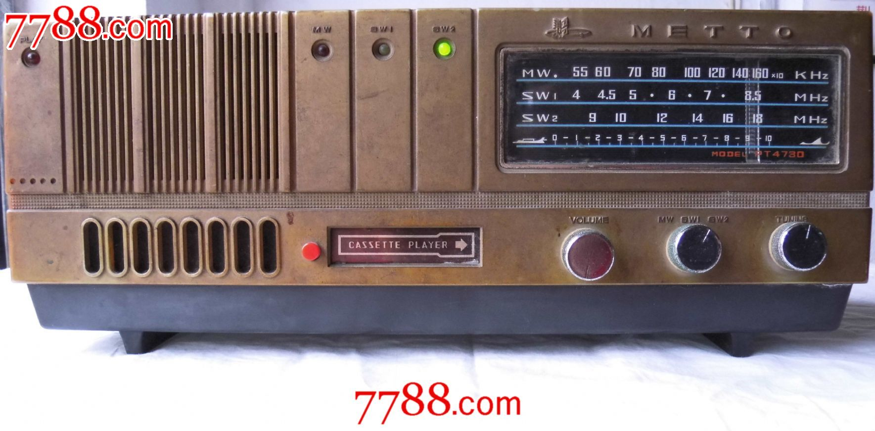 美多pt4730两用晶体管收音机