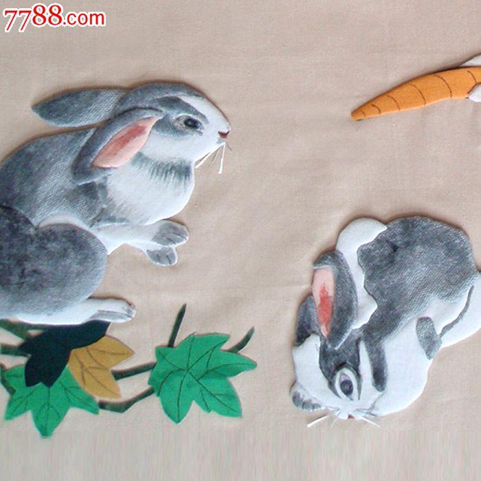 布贴画-生肖兔_价格1000元_第5张_中国收藏热线图片