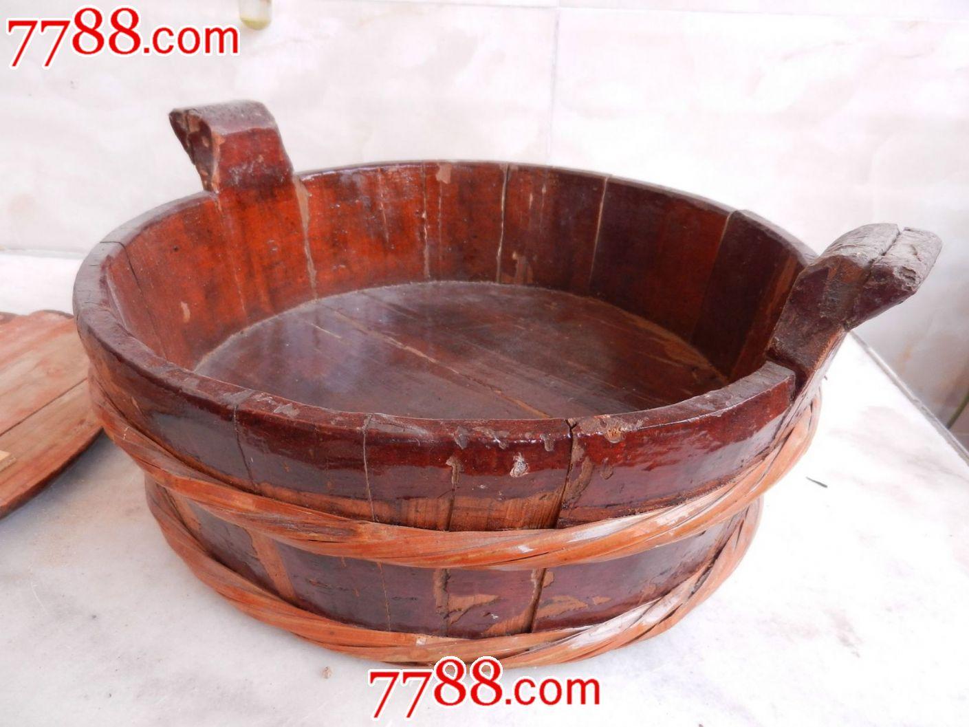 下里巴人搞收藏-老木盆