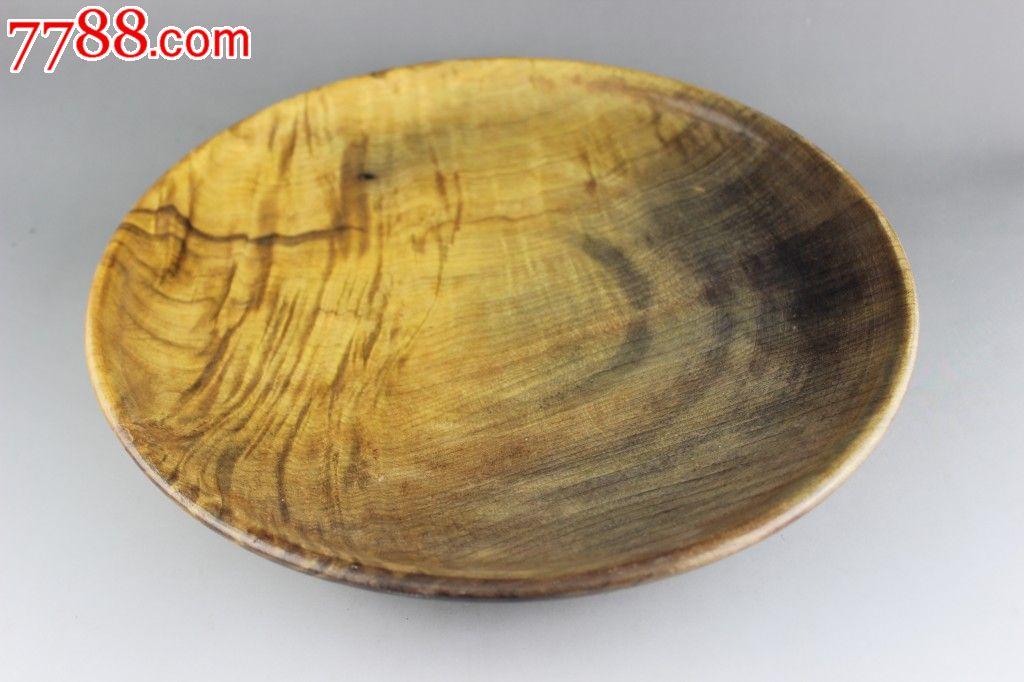 【水波纹金丝楠木盛果盘】上等木材,大料难寻,纹理独特拆房老料难得佳