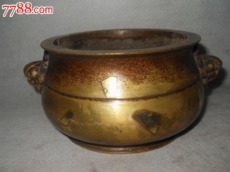 天鸡耳洒金铜香炉_价格750元_第1张_中国收藏热线