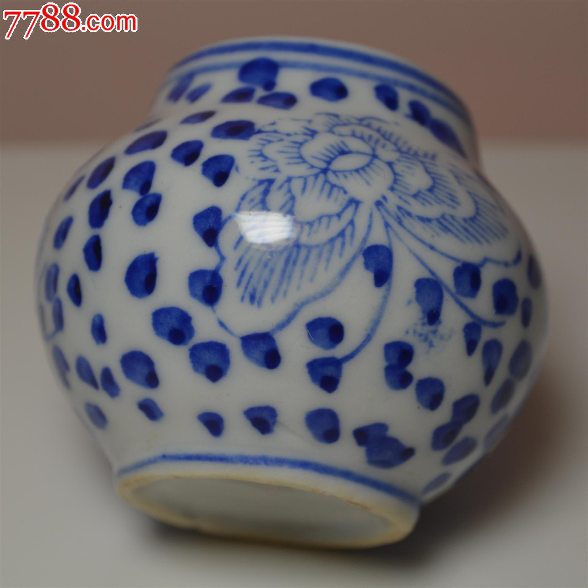 青花牡丹花纹鸟食罐_青花瓷_桑园吧【中国收藏热线】