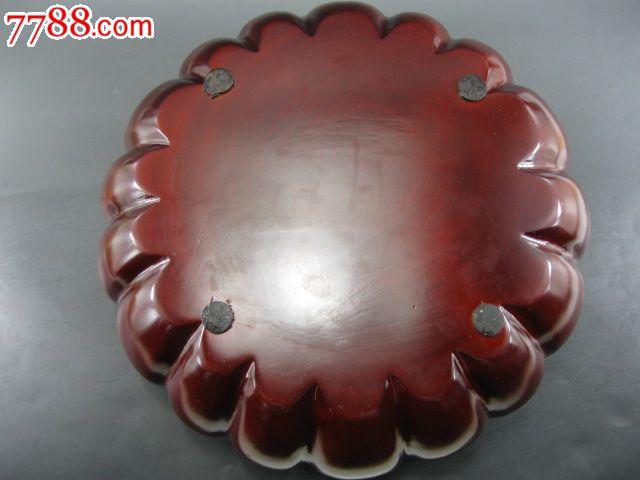 红檀木瓜纹圆盒子