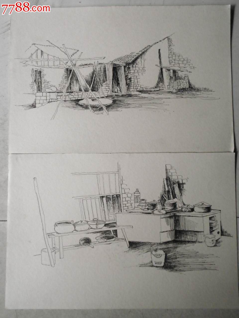 写生画稿13张-价格:40元-se23087995-素描/速写-零售图片