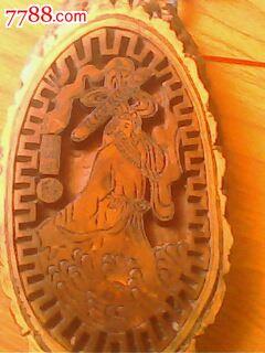 黄玻璃木雕刻八仙过海 其他旧漆器 小宁葫芦艺术品