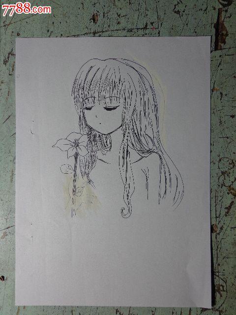 动漫人物速写画