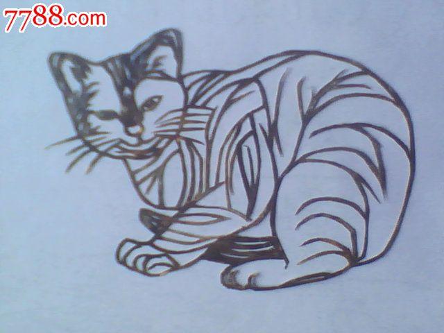手工剪纸猫