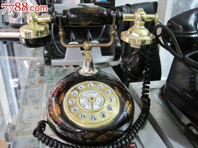 老式胶木手摇电话机